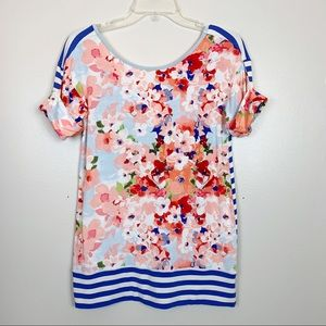 Matilda Jane | Floral Striped Blouse Size XS